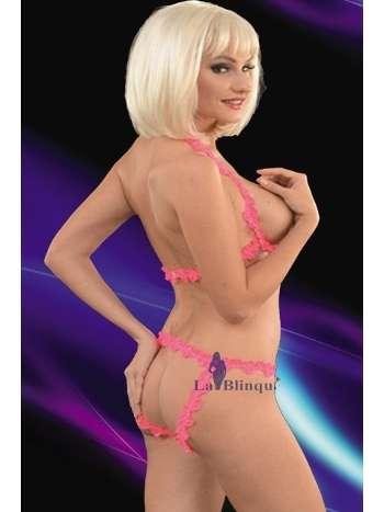 La Blinque Göğüs Dekolteli Sütyen String Takım 7027