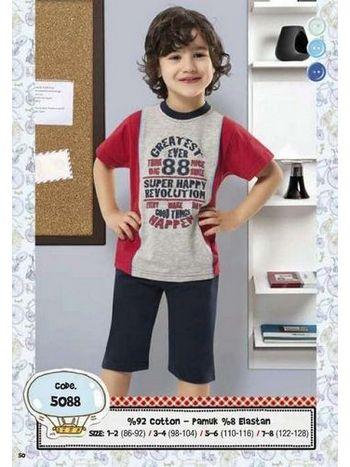 Hmd Erkek Çocuk 88 Baskılı Kapri Takımı 5088