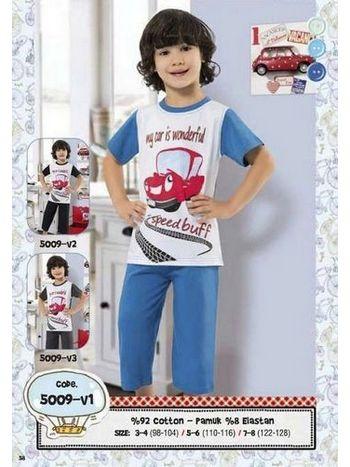 Hmd Erkek Çocuk Araba Baskılı Kapri Takımı 5009