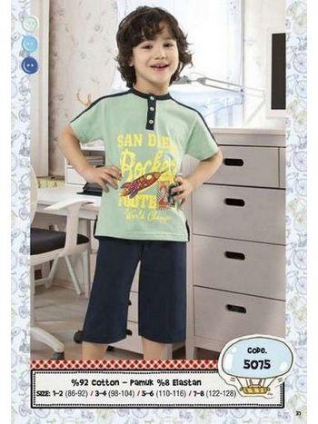 Hmd Erkek Çocuk Füze Baskılı Kapri Takımı 5075