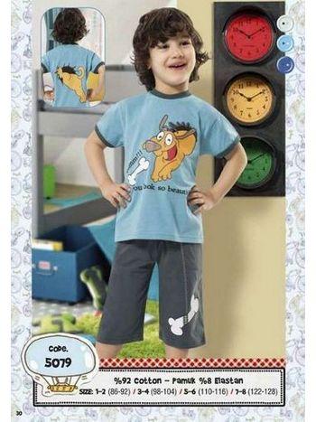 Hmd Erkek Çocuk Köpek Baskılı Kapri Takımı 5079