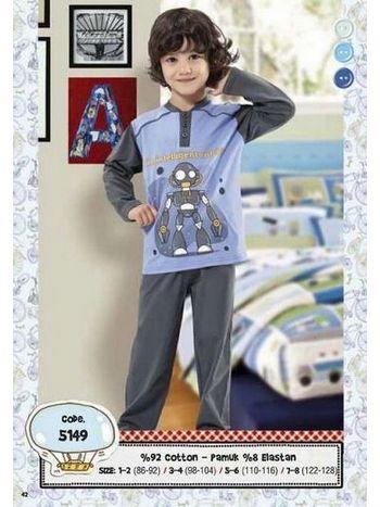 Hmd Erkek Çocuk Robot Baskılıpijama Takımı 5149