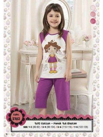 Hmd Kız Çocuk Kapri Takım 5102