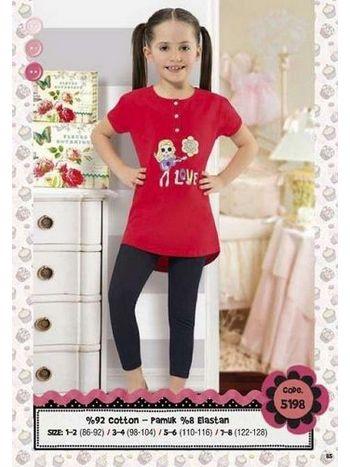 Hmd Kız Çocuk Kapri Takım 5198