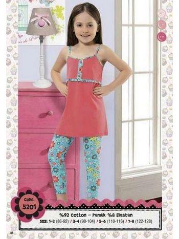Hmd Kız Çocuk Kapri Takım 5201