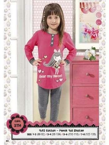 Hmd Kız Çocuk Pijama Takımı 5114