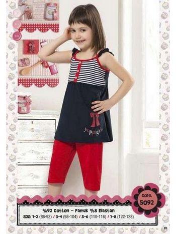 Hmd Kız Çocuk Yuppi Baskılı Kapri Takım 5092