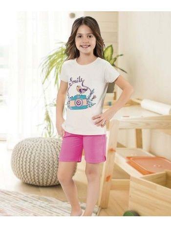 Kameraya Gülümse Kız Çocuk Şort Takım HMD 6066