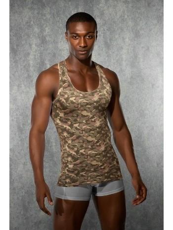 Kamuflaj Baskılı Erkek Atlet - Imprime Collection Doreanse 2215