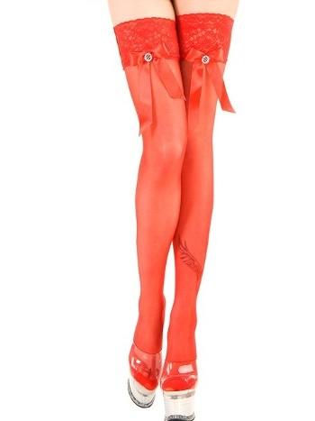 La Blinque Kırmızı Aksesuarlı Jartiyer Çorap 950