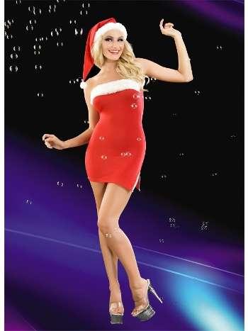 La Blinque Kırmızı Yılbaşı Kostüm 2042