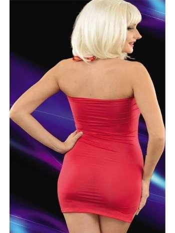 La Blinque Kırmızı Zincirli Staplez Mini Elbise 6093