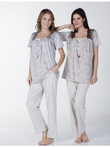 Klasik Battal Pijama Takım Bone Club 4336
