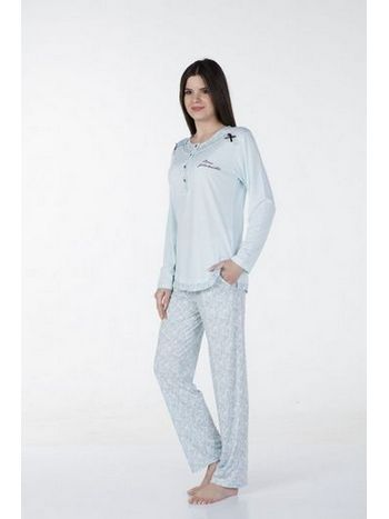 Klasik Puanlı Pijama Takım Bone Club 4337