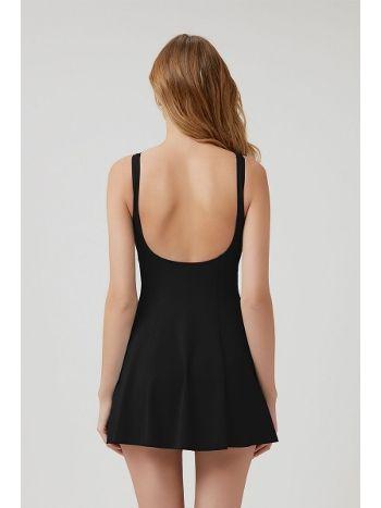 Kom Jerom Şortlu Elbise Siyah