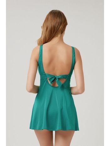 Kom Naora Elbise Mayo Koyu Yeşil