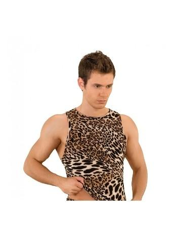La Blinque Erkek Seksi iç Giyim Leopar Yüzücü Atlet