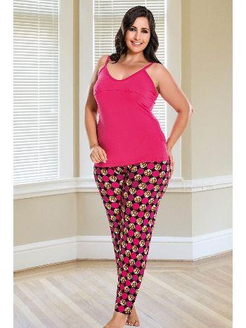 Lady 4 Lü Büyük Beden Pijama Takım 18185