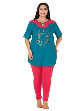 Lady Taytlı Kısa Kollu Büyük Beden Pijama Takım 405