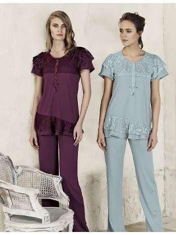 Lezli Pijama Takım Artış 3203