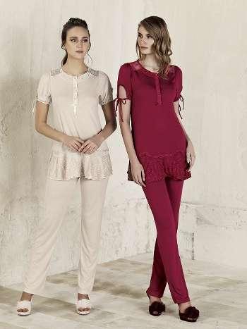 Lezli Pijama Takım Artış 3209