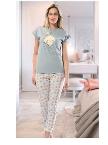 Limon Kısa Kol Uzun Pijama NBB 66084