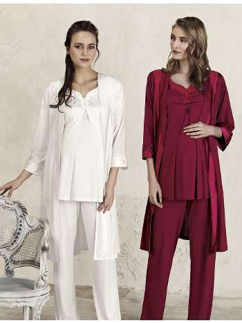 Lohusa Sabahlık Pijama Takım Artış 3401