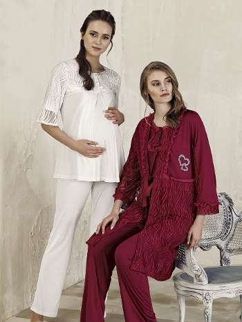 Lohusa Sabahlık Pijama Takım Artış 3403