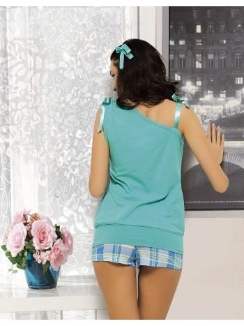 Maranda 483 Yan Yaka Kesimli Şortlu Yazlık Pijama Takımı