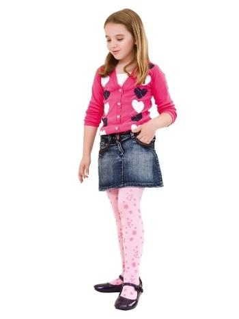 Daymod Menekşe Desenli Külotlu Çocuk Çorabı