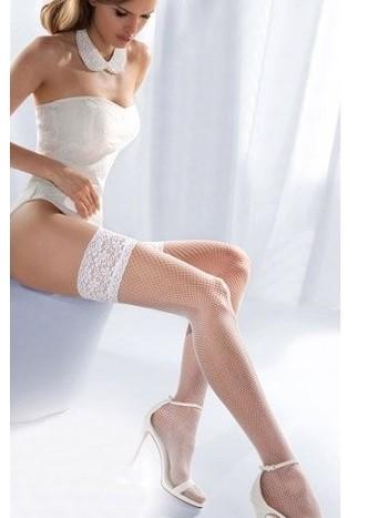 Beyaz File Jartiyer Çorap Silikonlu Dantelli Merry See