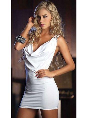 Merry See Özel Tasarım Beyaz Mini Elbise