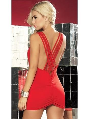 Merry See Kırmızı Mini Gece Elbisesi