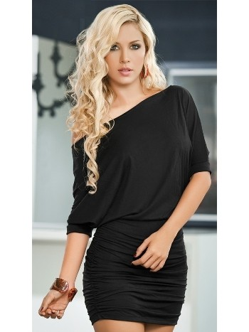 Merry See Şık Siyah Mini Elbise