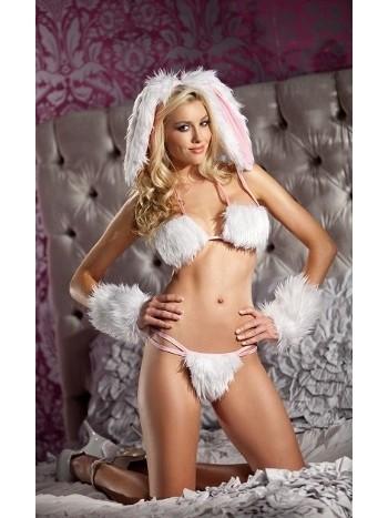 Merry See Tüylü Tavşan Kız Kostümü