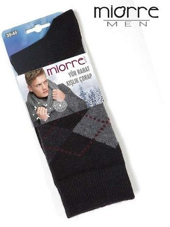 Miorre Yün Ekose Desenli Erkek Çorabı
