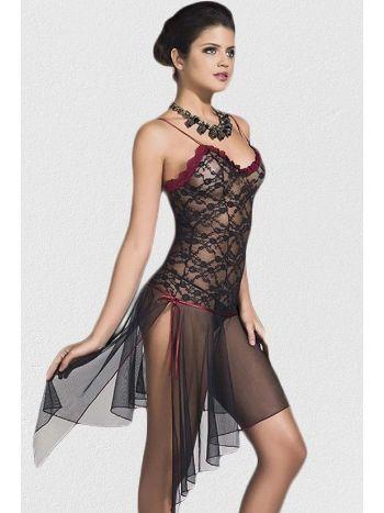 Mite Love Siyah Giyim Transparan Kadın Gecelik