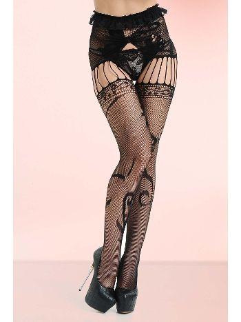 Mite Love File Desenli Külotlu Çorap Fantazi Giyim