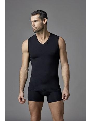 Modal Likralı V Yaka Kolsuz T-Shirt Dagi D4560