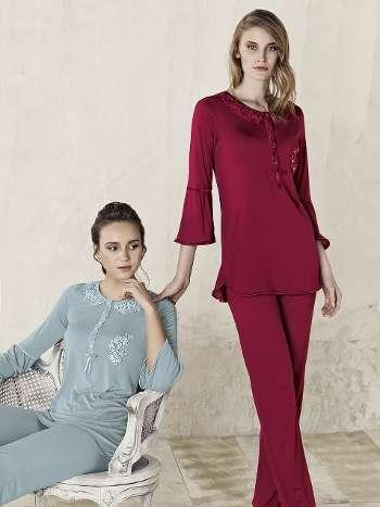 Motifli Pijama Takım Artış 3210