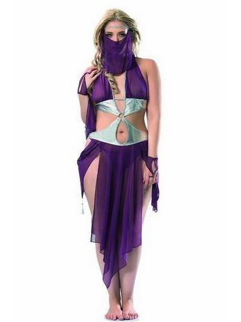 Peçeli Tül Dansöz Kostümü Denizgülü 6076