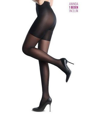 Penti Body Form Külotlu Çorap 500 Siyah - (3'lü Paket)
