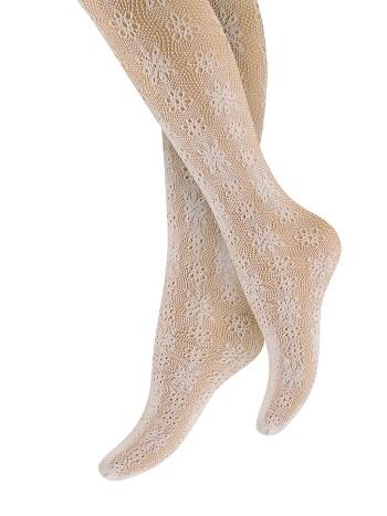 Penti Çocuk Çicek File Külotlu Çorap 10 Beyaz