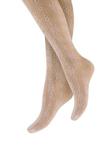 Penti Çocuk Çicek File Külotlu Çorap 135 Pudra