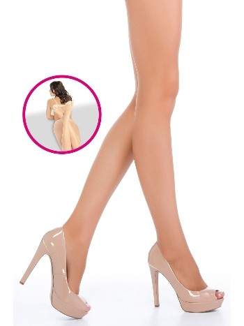 Penti Dekolte Parmaksız Külotlu Çorap 38 Bronz - (3'lü Paket)