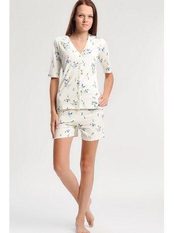 Penye Mood 3 Parçalı Şortlu Viskon Pijama Takım 7073