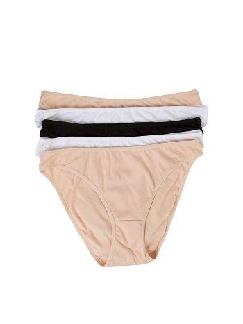 Pierre Cardin 2057 Hıgh Leg Brıef 5 Lı Eko Siyah-Beyaz-Ten