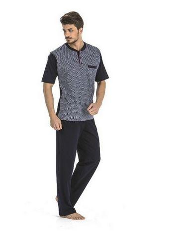 60/2 Jakarlı 3 lü Pijama Takım Pierre Cardin 5183
