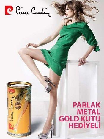Pierre Cardin Parlak Gold Kutu Külotlu Çorap