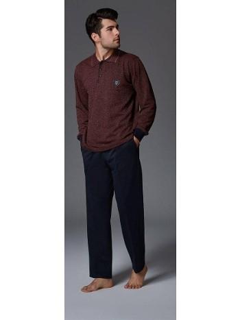 Puan Jakar Yakalı Erkek Pijama Bone Club 4459